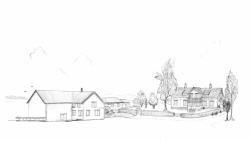 Illustrasjon av Handelsstedet Forvik